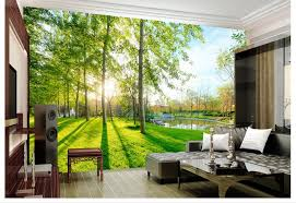 3D Wallpaper Custom 3d Wall Murals 3 D Landscape Garden Scenery Background Paintings Living Room In Wallpapers From Home