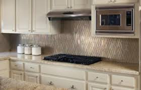 glass tile backsplash with granite countertops modern beautiful