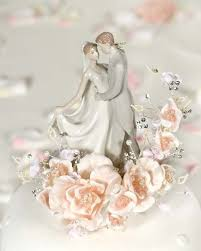 This Stunning Recreation Vintage Cake Topper Features A Sprig Of Velvet Roses Accented With Faux Pearls And Crystals Elegant Fine Porcelain Couple Is