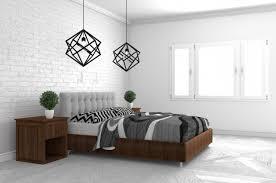 schlafzimmer in der modernen innenarchitektur auf weißem
