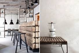 Painted White Brick Walls And Collections Of Vintage Bread Boards Creates A Visual Break On The Wall Compliments Rustic Raw Nature Space