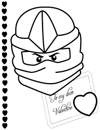 Ninjago Zx To My Valentine Coloring Page