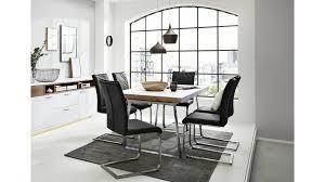 interliving wohnzimmer serie 2102 esstisch dunkles asteiche furnier weißer mattlack ca 160 x 90 cm