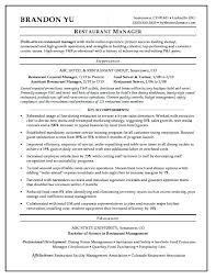 Resume Samples With Objectives Restaurant Objective Examples Entry Level Customer Service