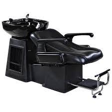 harlow black beauty salon shoo chair sink bowl unit
