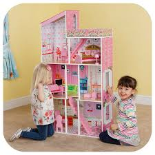 Shop Gymax 46 Pink Dollhouse W Furniture Gliding Elevator Rooms 3
