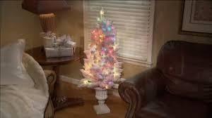 Qvc Christmas Tree Storage Bag by Bethlehem Lights Hudson Prelit 4 U0027 Urn Tree Page 1 U2014 Qvc Com