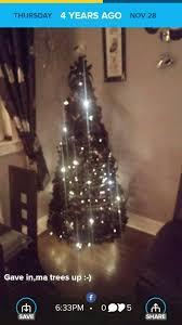 Black Pre Lit Pop Up Christmas Tree by Black Pre Lit Pop Up Tree In Kilmarnock East Ayrshire Gumtree