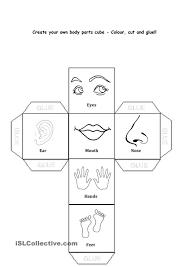Free Worksheet For Kindergarten Body Parts
