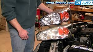 how to install replace headlight and bulb chevy malibu 04 08