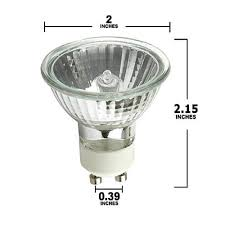 pack of 6 50 watt gu10 base 120 volt mr16 with uv glass cover