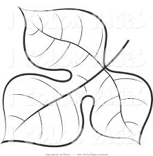 Vector Coloring Page Of A Black And White Tree Leaf