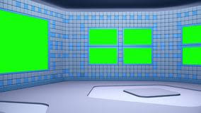The Virtual Broadcasting Studio With Green Screen Area Camera Movement Is Included Royalty Free Illustration
