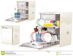 Dishwasher Stock Vector Illustration Of Dishware