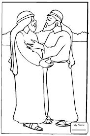 Coloring Pages Jacob Christianity Bible Meets Rachel At Well