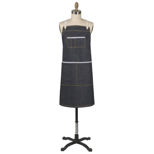 Danica Studio Sawyer Cotton Chef's Apron - with Pockets, Denim