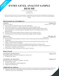 Junior Financial Analyst It Resume Example Objective Examples