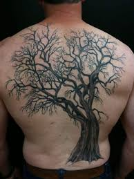Tattoos Picturing A Tree Often Tend Towards Representing Life Stage Thus Bare Branched Would Be Reminiscent Of An Older Age When Has Already