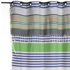 rideaux prets a poser rideau prêt à poser et ajustable en hauteur 100 coton fond gris