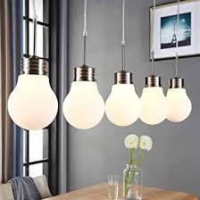 lindby pendelleuchte bado dimmbar modern in weiß aus glas ua für wohnzimmer esszimmer 5 flammig e14 a inkl leuchtmittel deckenle
