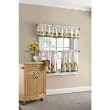 mainstays sunflower 3 piece kitchen curtain set walmart com