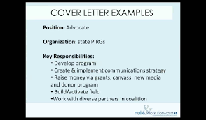 What s in a cover letter 1