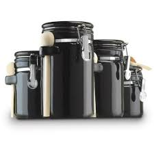 Savannah Turquoise Kitchen Canister Set by Black Kitchen Canisters Sets Park Designs Star Vine Collection