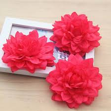 ZERO DIY Handmade Artificial Plastic Flowers Heads Dahlia Flower Fabric For Clothing