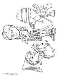 In This Amazing Despicable Me 2 Coloring Page You Can Meet The Characters Margo Edith And Agnes