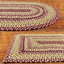 Homespice Decor Cotton Braided Rugs by Primitive Decor Clearance Sale Braided Country Rugs On Sale