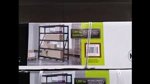 whalen industrial rack 3 000lb capacity from costco youtube