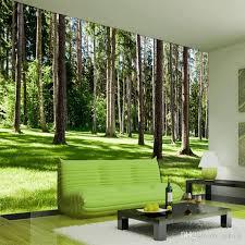 großhandel arkadi benutzerdefinierte mural tapete 3d natur landschaft grün baum wälder sonnenschein foto mural tapete wohnzimmer 3d vlies tapeten