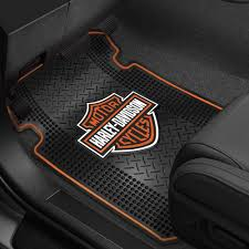 Plasticolor 000666R01 1st Row Black Rubber Floor Mats W Harley ...