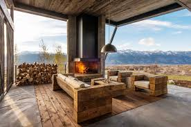 Image Of Rustic Modern Outdoor Furniture Style