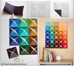 Creative Homemade Home Decoration Idea Paper Wall DecorDiy