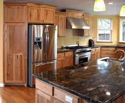 Accessories Furniture Extraordinary Hickory Kitchen Cabinet Design Ideas With Charming Natural Floating Wood