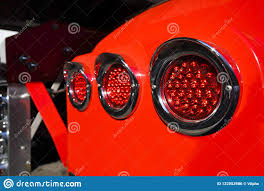 100 Truck Marker Lights Rear In The Chrome Rim On Fender Of Red Big