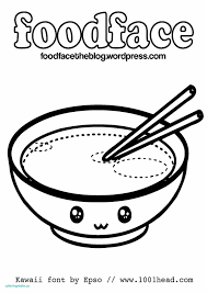 Kawaii Food With Faces Coloring Pages