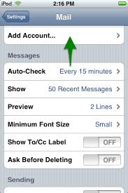 How can I set up email on my iPhone or iPod Touch Media Temple