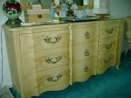 john widdicomb french provencial full dresser with mirror antique