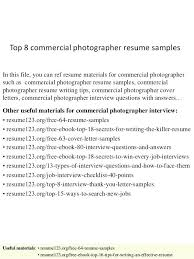 Wedding Photography Resume Samples Photographer Sample Tutorial Pro Examples