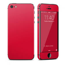 Solid State Red OtterBox muter iPhone 5 Skin