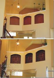 Paint It Wall Niche Faux Iron Decor Before After