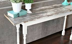 Q Looking For Some Ideas On Behind Sofa Narrow Tables Using Reclaimed Painted Furniture