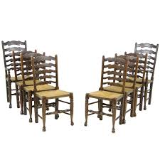 Tall Ladder Back Chairs With Rush Seats by Set Of Eight Antique Ladder Back Chairs Rush Seats Six Two