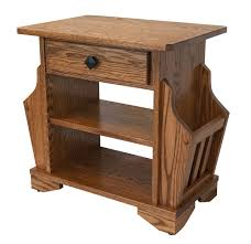 End Table With Attached Lamp by Tables 4 Side Table With Built In Magazine Rack End Table With