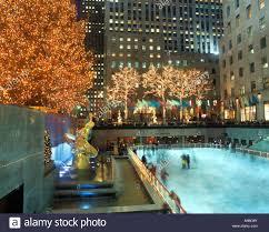Christmas Tree Rockefeller Center Live Cam by Ice Rink Christmas Tree Prometheus Paul Manship 1939