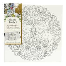 Pair Johanna Basford Coloring Canvas With Sets Of Markers Pens Or Paint For A Truly Creative Experience
