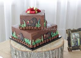 Turkey Hunting Grooms Cake Table