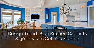 Painting Wood Kitchen Cabinets Ideas 31 Awesome Blue Kitchen Cabinet Ideas Home Remodeling